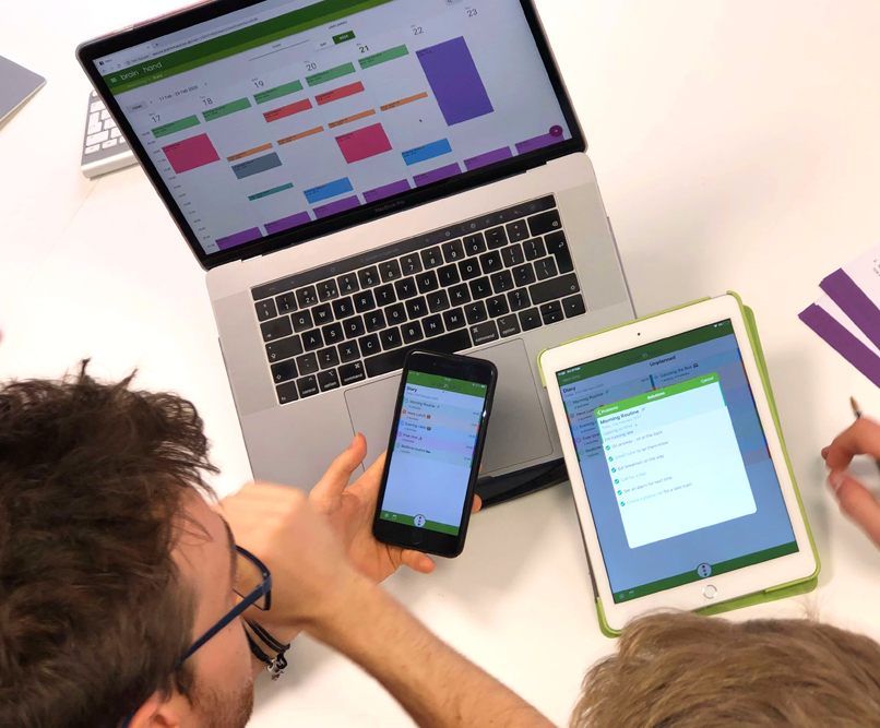 Working together with Brain in Hand software